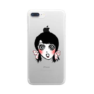 驚きちゃん Clear smartphone cases