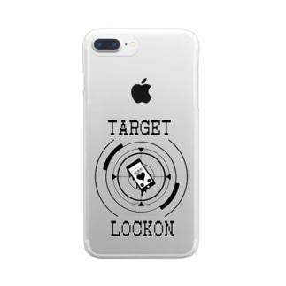 モノクロ ロックオン Clear smartphone cases