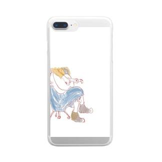 ギター女子 Clear smartphone cases