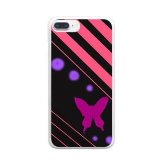 夜空の蝶 Clear smartphone cases