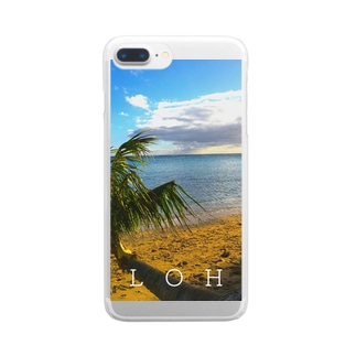 THE BEACH Clear smartphone cases