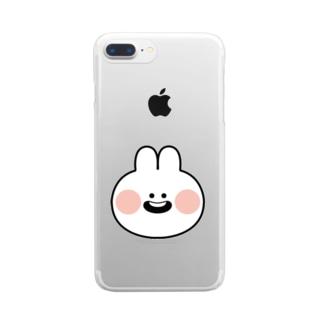 うさぎっちゃん Clear smartphone cases