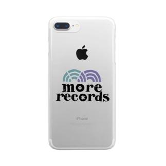 モアレコロゴ Clear smartphone cases