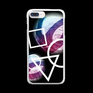 粋彩の思考回路 Clear smartphone cases