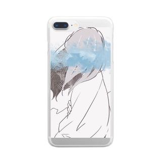 もやもや Clear smartphone cases