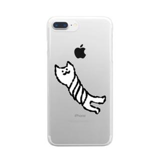 しぼられねこ Clear smartphone cases