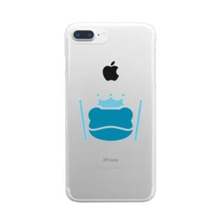 カエルとドラム ロゴ 2019 Clear smartphone cases
