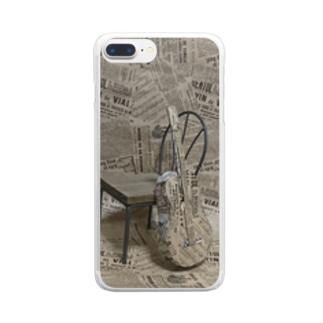 ギターを包装紙で Clear smartphone cases
