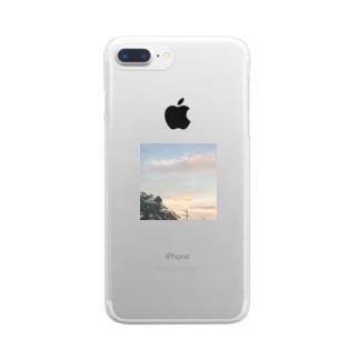 夏のくもでっかい Clear smartphone cases