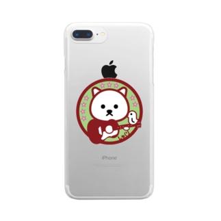 パ紋No.3331 しゅくり Clear smartphone cases