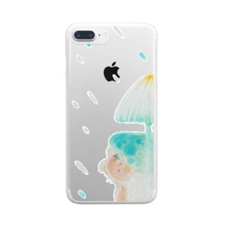 気まぐれな雨 Clear smartphone cases