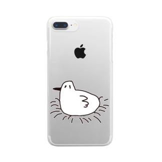 ヒマをもてあましているトリ Clear smartphone cases