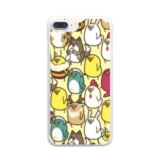 仮装行列 Clear smartphone cases