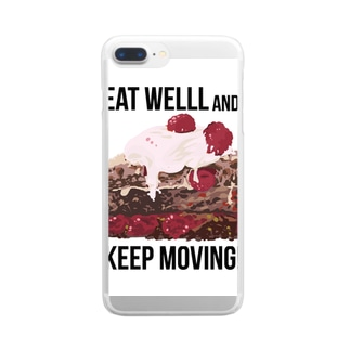 Eat well, and keep moving! Clear smartphone cases