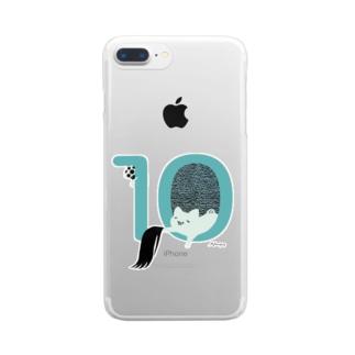 落とし物ですにゃ Clear smartphone cases