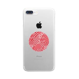 丸和柄(日) Clear smartphone cases