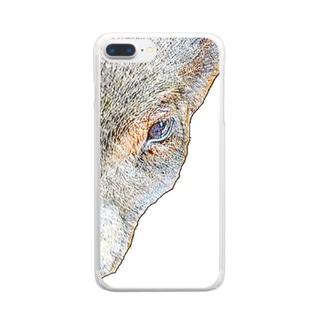 ミニブタさん Clear smartphone cases