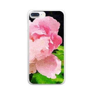 大輪の花 Clear smartphone cases