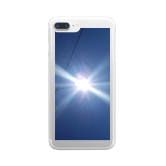 太陽サンサン Clear smartphone cases