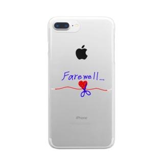 別れ Clear smartphone cases