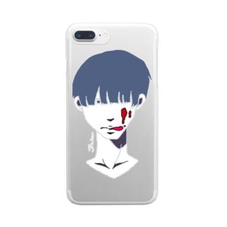ジャム男くん(白) Clear smartphone cases