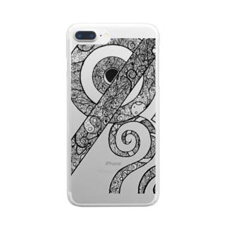 kurukuru Clear smartphone cases