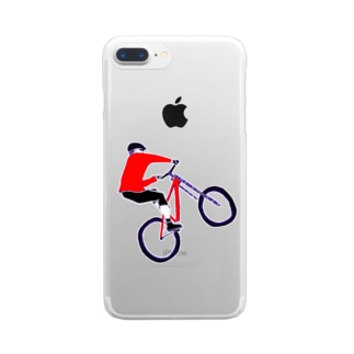 MTBデザイン「RIDE」 Clear smartphone cases