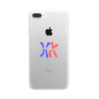 背景透過済み染色体 Clear smartphone cases
