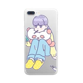 おつかれさん Clear smartphone cases