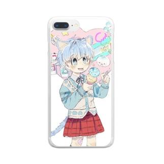 きゅんかわ犬系女子ケース Clear smartphone cases