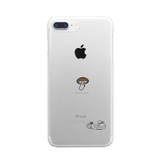 裏山しいたけ Clear smartphone cases