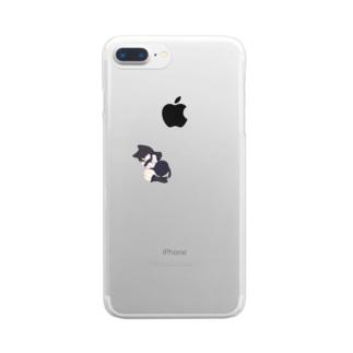 ねむるこねこ Clear smartphone cases