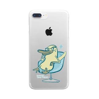 メガネだばしくん Clear smartphone cases