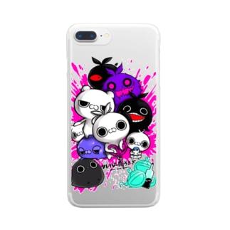 クレイジー闇うさぎ(不快な仲間たち) Clear smartphone cases