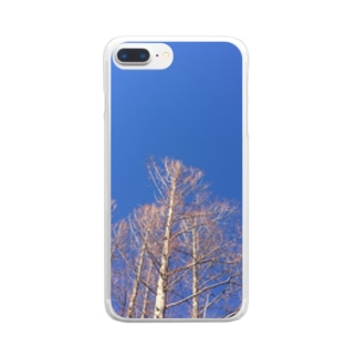 晴れた日のメタセコイア Clear smartphone cases