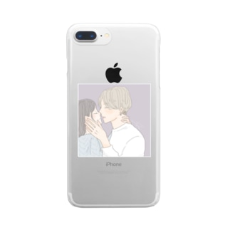 噛みつくように Clear smartphone cases