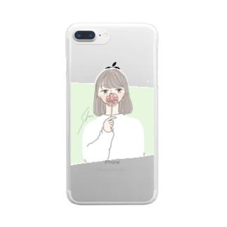 ワタシ Clear smartphone cases