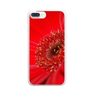 ガーベラ Clear smartphone cases