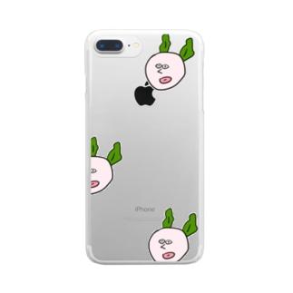 みみがわかめのうさぎ Clear smartphone cases