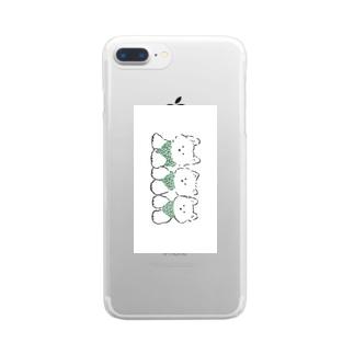 3ひきのテリア Clear smartphone cases