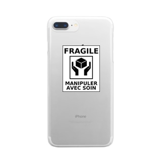 FRAGILE Clear smartphone cases