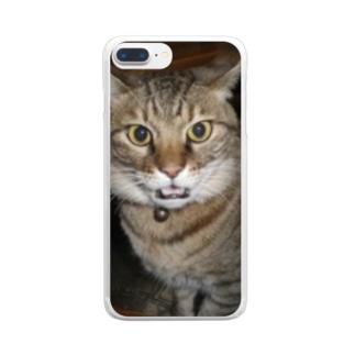 びつくりなえむくん Clear smartphone cases
