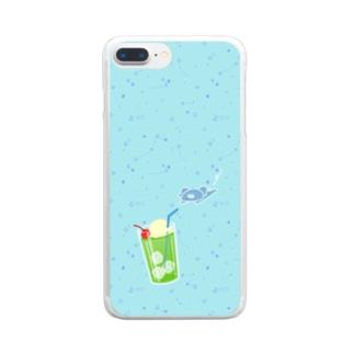 コアラさんとクリームソーダ Clear smartphone cases