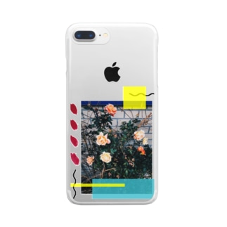 バラ Clear smartphone cases