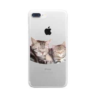 なかよし猫ちゃんシリーズ2 Clear smartphone cases