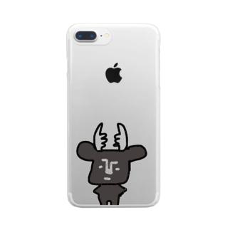 黒BUSHIKA Clear smartphone cases