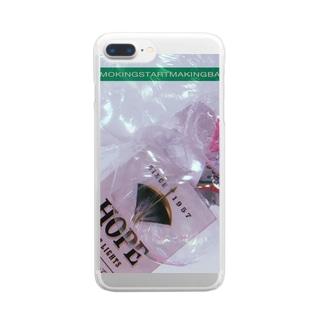 ストップスモーキングスタートメイキングバルーンズキャンペーン Clear smartphone cases