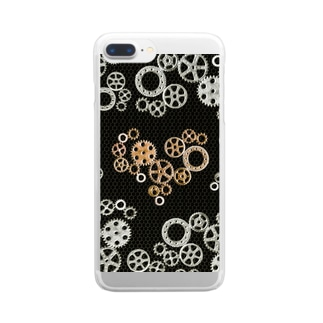 gear-heart-black-fence Clear smartphone cases