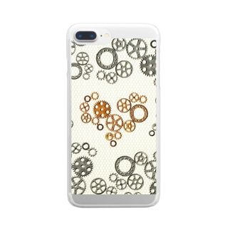 gear-heart-white-fence Clear smartphone cases
