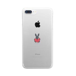 読書パトちゃん(S) Clear smartphone cases